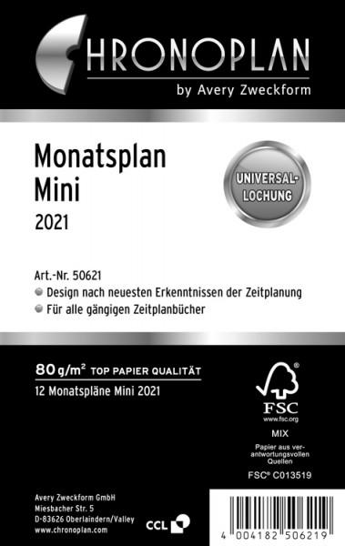 Chronoplan 50621 Mini Monatsplan 2021