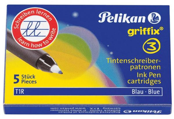 Ersatzpatronen GRIFFIX 5 Stück für Pelikan Tintenroller GRIFFIX