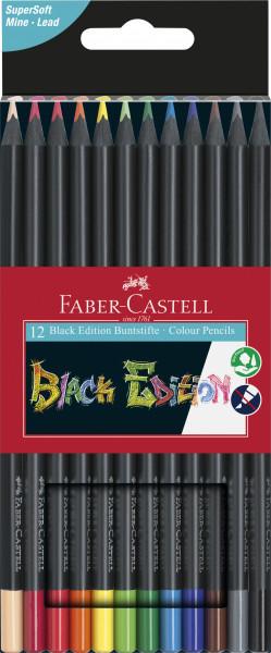 12 Faber Castell Black Edition Buntstifte