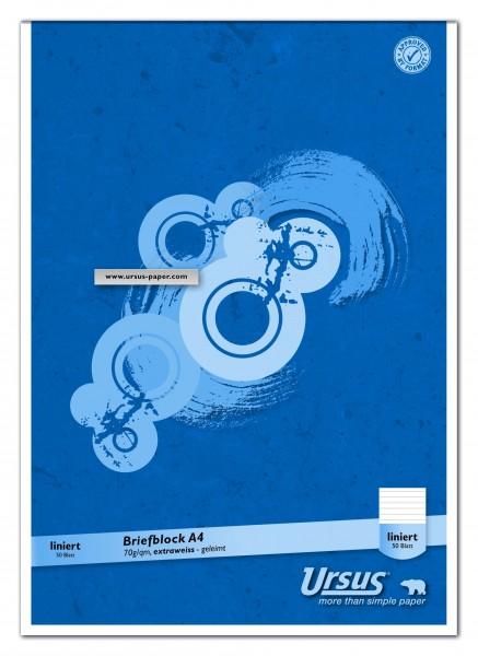 608742010-Briefblock-A4-liniert-50-Blatt-70g