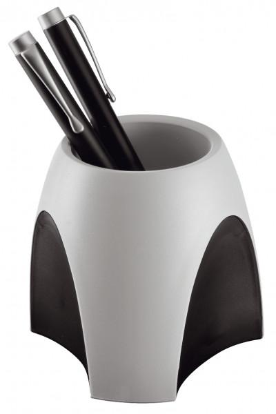 Han Stiftebox grau schwarz ohne Inhalt