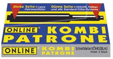 Online Kombi Patrone königsblau