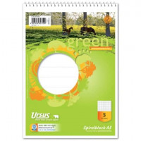 GREEN Schulblock mit Spirale A5 Lineatur 5