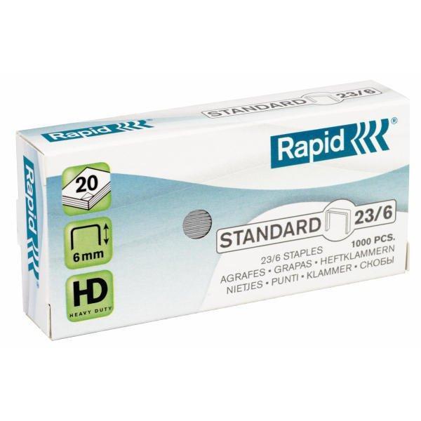 Rapid Heftklammern 23/6mm Standard verzinkt 1000 Stück