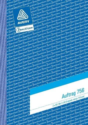 Avery Zweckform 756 Auftragsbuch