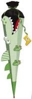 Schultüte Bastelset Krokodil grün weiß