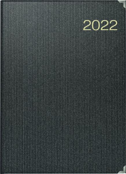 rido Buchkalender A4 schwarz 2022
