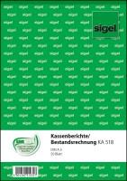 766397-Sigel-KA518-Kassenbericht-mit-Bestandsrechnung-A5-50-