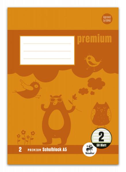Staufen Premium Schulblock A5 für die 2.Klasse
