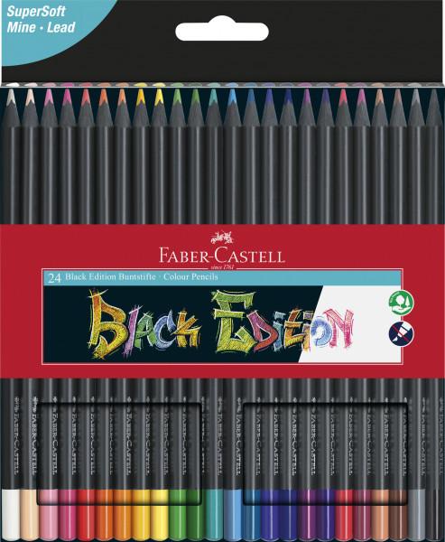 Faber-Castell Buntstifte 24 Farben Black Edition