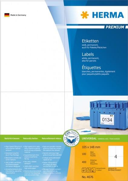 394676-Etiketten-Premium-weiss-105x148-mm-Papier-matt-400-St