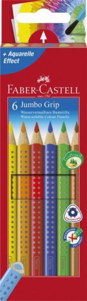 Faber-Castell Farbstift Jumbo GRIP 6 Farben sortiert im Kartonetui