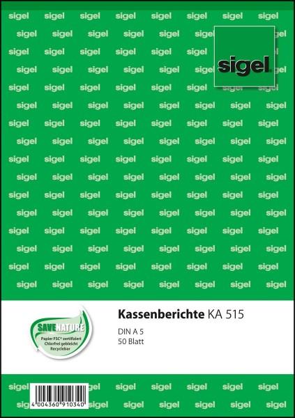 766396-Sigel-KA515-Kassenbericht-A5-50-Blatt