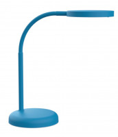LED Schreibtischleuchte blau matt