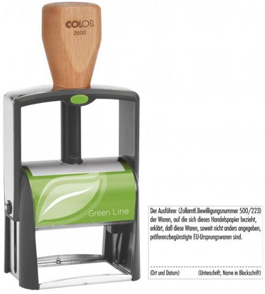 COLOP Green Line Stempel selbstfärbend max. 8 Zeilen 27 x 58mm