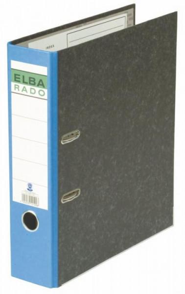 ELBA Rado Ordner A4 80mm Wolkenmarmor blau