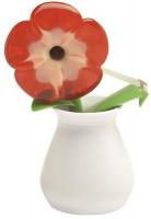 Tischabroller Blumenvase weiß
