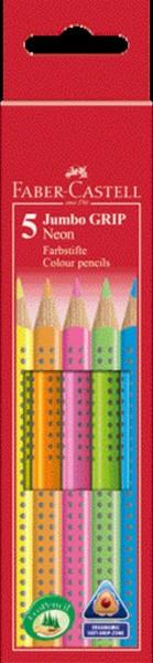 Faber-Castell Neon Jumbo Grip Farbstifte