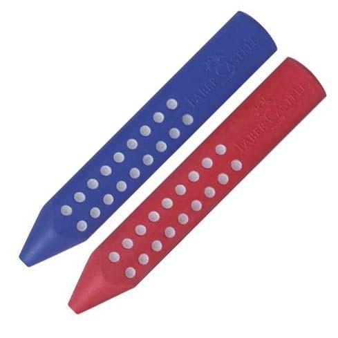 FABER-CASTELL Radierer Grip blau oder rot