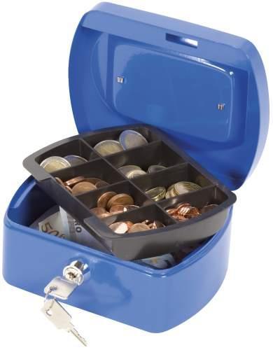 Geldkassette 155x120x75mm blau