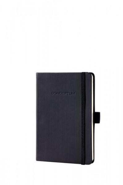 768242020-Notizbuch-Conceptum-Hardcover-schwarz-kariert-108x