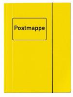 Postmappe DIN A4 gelb mit Gummizug