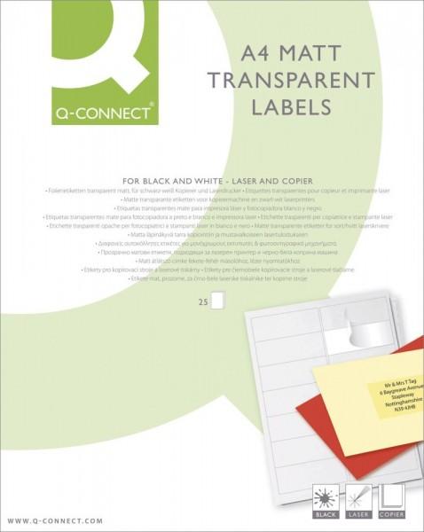 Etiketten Matt transparent 210 x 297 mm