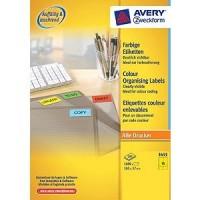 Zweckform 3455 Farbige Etiketten gelb