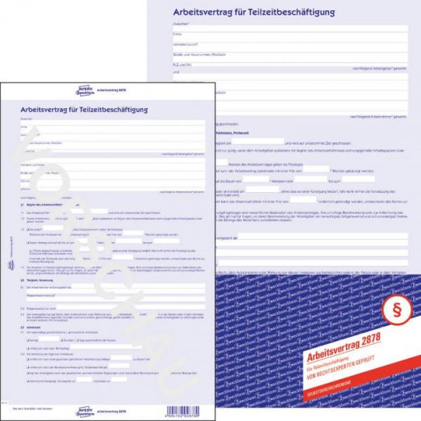 Avery Zweckform 2878 Arbeitsvertrag Teilzeit Paper Markt