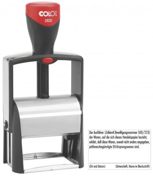 COLOP Classic Line 2600 Stempel für max. 8 Zeilen, 37 x 58mm