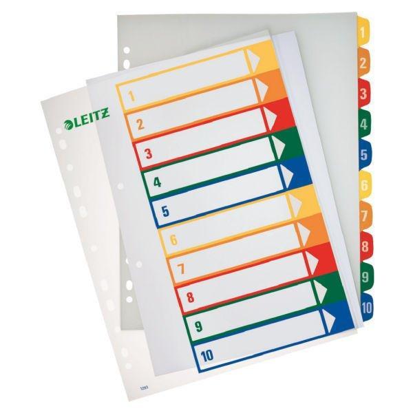 Leitz Ordnerregister A4 bedruckbar 1-10