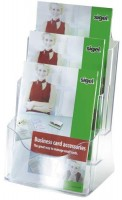 768074-Sigel-Tisch-Prospekthalter-A4-3-Faecher-Acryl-glaskla
