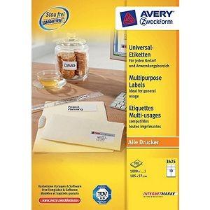 Avery Zweckform 3425 Universal Etiketten