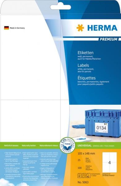 395063-Etiketten-Premium-weiss-105x148-mm-Papier-matt-100-St