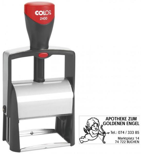 Colop Selbstfärbestempel mit Logo & Wunschtext für max. 6 Zeilen 27 x 58 mm