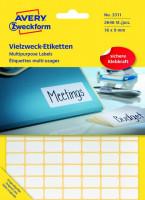 Zweckform Etiketten 3311 Mini Organisations Etiketten