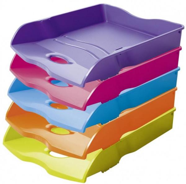 HAN LOOP Briefablage A4/C4 stapelbar Auswahl 11 Farben