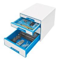 LEITZ Schubladenbox WOW Cube perlweiß/blau