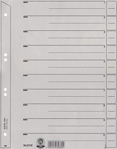 LEITZ Trennblätter A4 grau 100 Stück