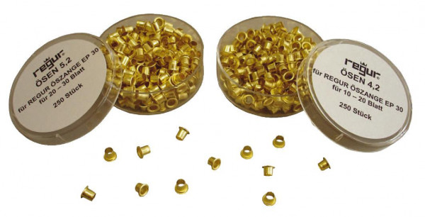Regur Ösen 250 Stück 3.2 mm für 2-10 Blatt Messing
