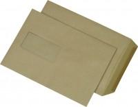 513323-Versandtaschen-C5-mit-Fenster-gummiert-90-g-qm-braun-