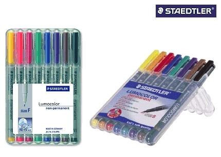Staedtler Folienstifte Lumocolor non permanent 8 Farben