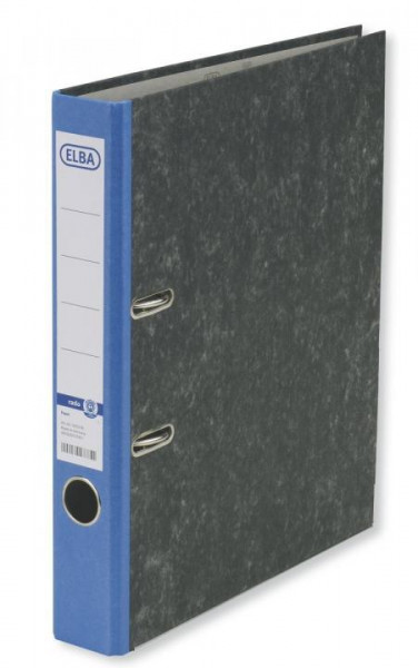 ELBA Ordner smart 50mm Wolkenmarmor blau