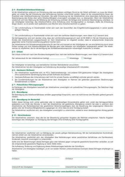 Rnk 50210 Arbeitsvertrag Für Arbeitnehmer Paper Markt Büroartikel