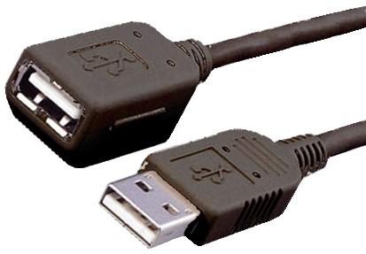 USB Verlängerungskabel 5m schwarz