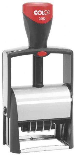 COLOP 2660 Classic Line Dater für max. 6 Zeilen, 37 x 58 mm