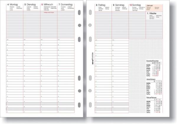 bind Kalendereinlage 2022 1 Woche 2 Seiten A5