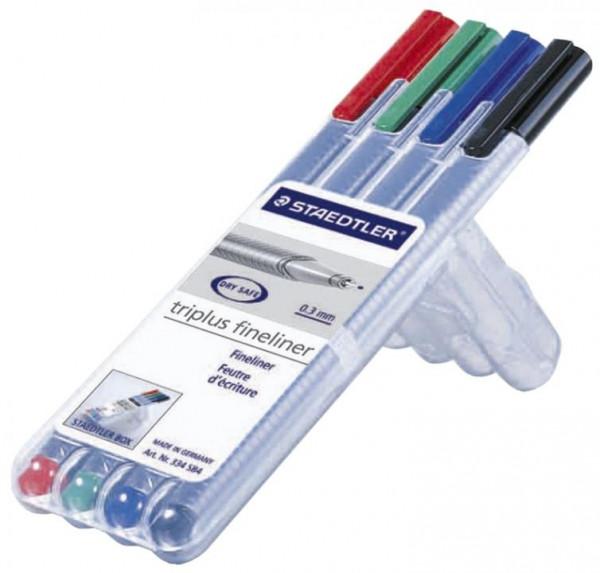 Staedtler triplus fineliner mit 4 Farben