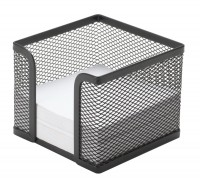 Zettelbox Metalldraht schwarz