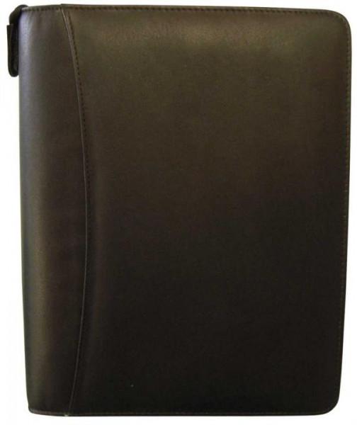 Bind T3 Systemplaner A5 Nappaleder schwarz mit Reißverschluss